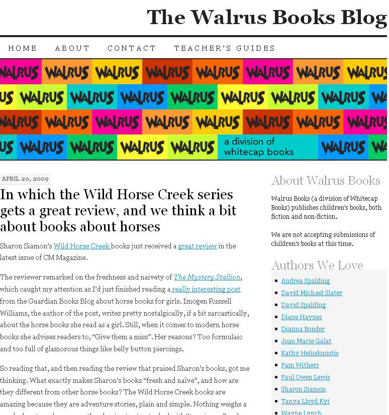 The Walrus Books Blog | pressing digressions